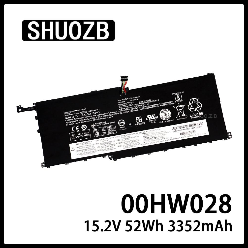 00HW028 Laptop Battery For Lenovo ThinkPad X1 Carbon X1C Yoga SB10F46467 20FB002VGE 20FB003RGE 20FB0043GE SB10F46466 15.2V 52Wh