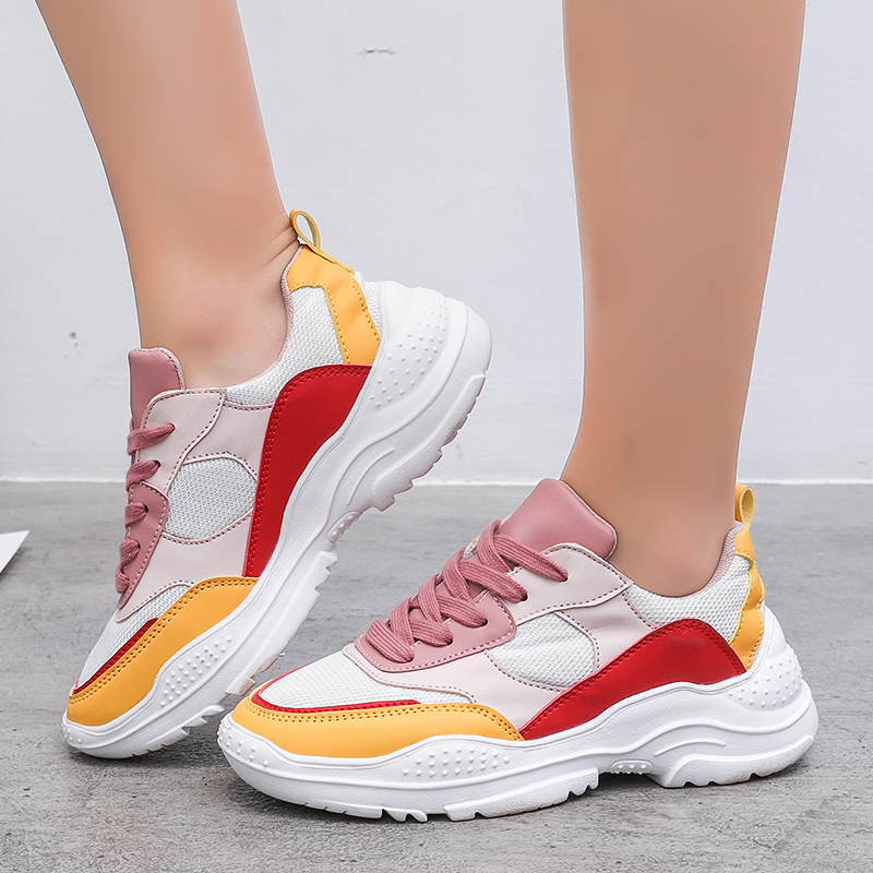 New Womens Running Sneakers Mesh Breathable Athletic Women Shoe Anti Slip Walking Sneakers Women Hard-Wearing Sports Shoes Women image