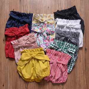 Summer Fashion baby girls boys pants Newborn Baby Fold bloomers Girls Pattern Triangle toddler Trousers PP Pants Clothes