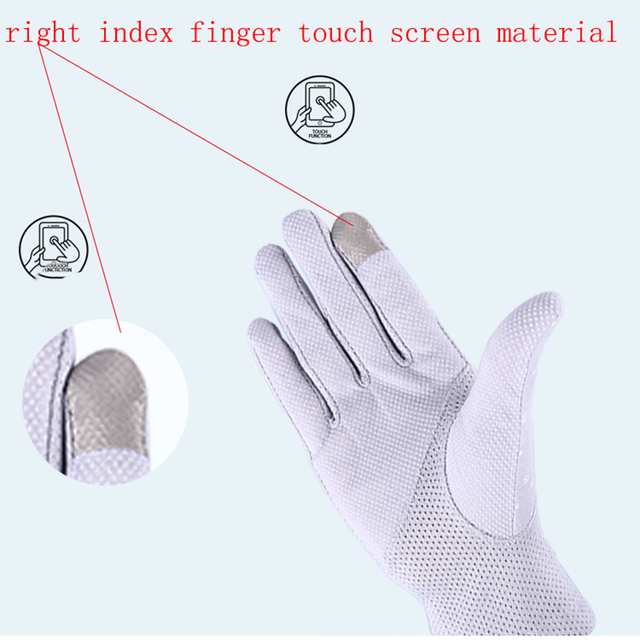 2020 New Fashion Women's Summer Driving Gloves Non-slip Block UV Touch Screen Gloves Cotton Gloves Women Breathable Guantes 5