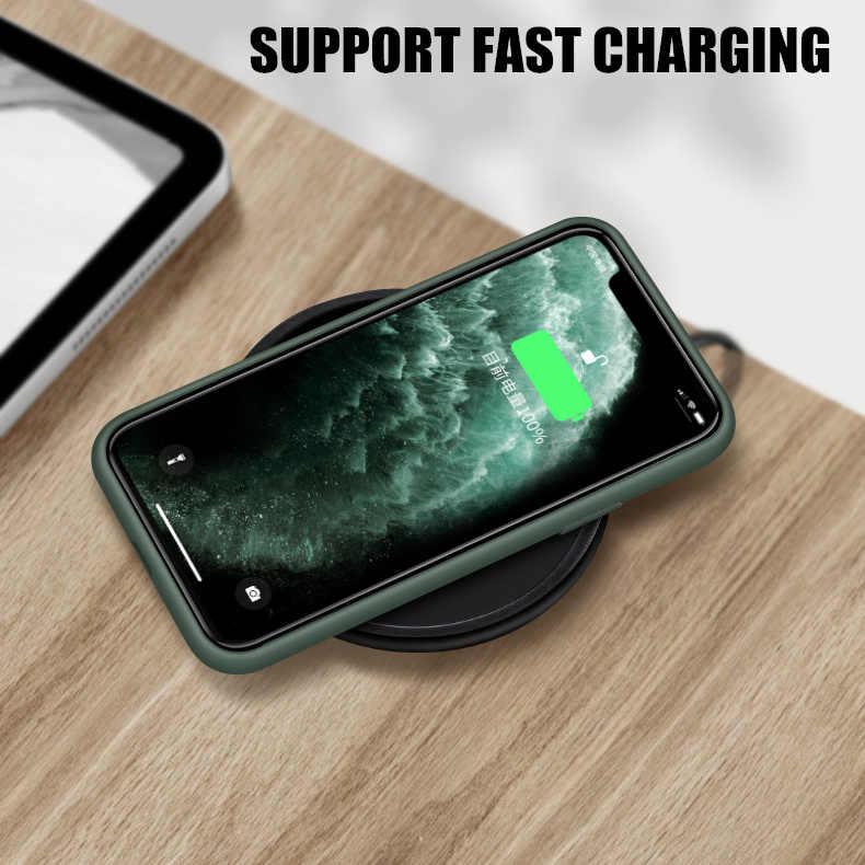 Capa de celular de silicone líquido para iphone, capinha original para iphone 11 pro max xr xs x, capas de borracha macia de doce para iphone estojos 6 6 s 7 8 plus
