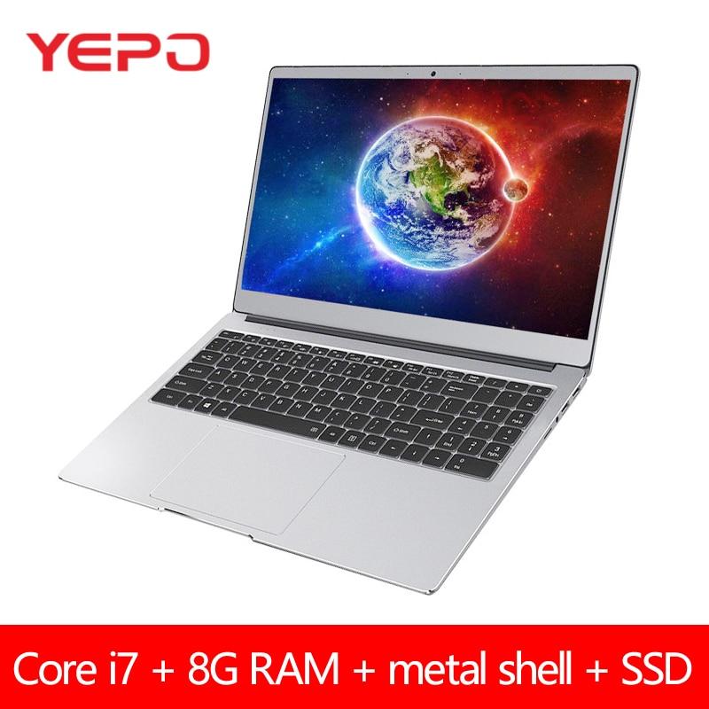 Core i7 Gaming Laptop 15,6 zoll 8G RAM 128GB 256GB 512GB 2280 SSD Notebook Computer Mit beleuchtete Tastatur IPS Geröll Intel win10