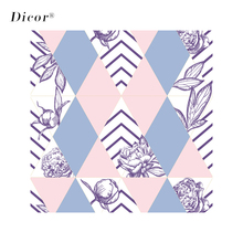 DICOR Modern Fashion Window Decorative Film Flowers Peony Vinyl Frosted Glass Sticker For Home Decor BLT2179