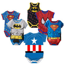 Superman Sommer Baby Neugeborene Baby Junge Mädchen Strampler kurzarm Overall Kleidung Baby Kleidung Baumwolle Outfits 0-18M(China)