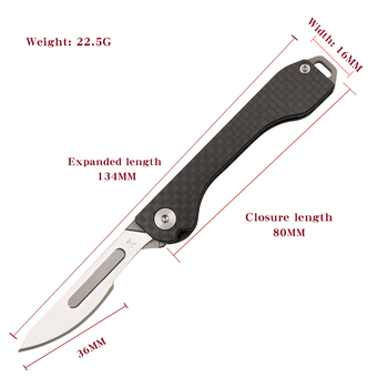 carbon fiber folding tool knife Tactical Knife Sharp blade Carry-on Outdoor Survival camping emergency tools Unpacking paper cut 6