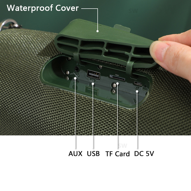 Bluetooth Speaker TG187 High Power 50W  Speakers Subwoofer Boom Box 5