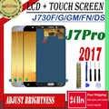 SM-J730F/G/GM/FN/DS pour Samsung Galaxy J7 Pro 2017 J730 écran LCD + écran tactile J730F ajuster luminosité Pancel