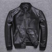 2020 Mens Sheepskin Coat Genuine Leather Men Spring Autumn Plus Size Light Bomber Jacket U 352 KJ2282