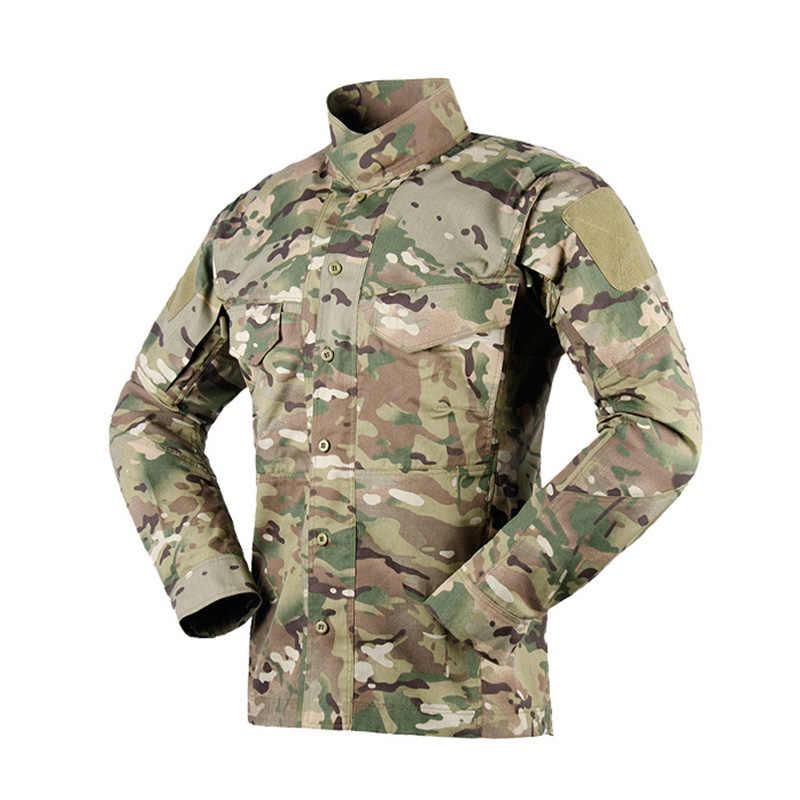 Armée homme militaire Chemise Tactical Combat Manche Longue Décontracté Randonnée Camouflage