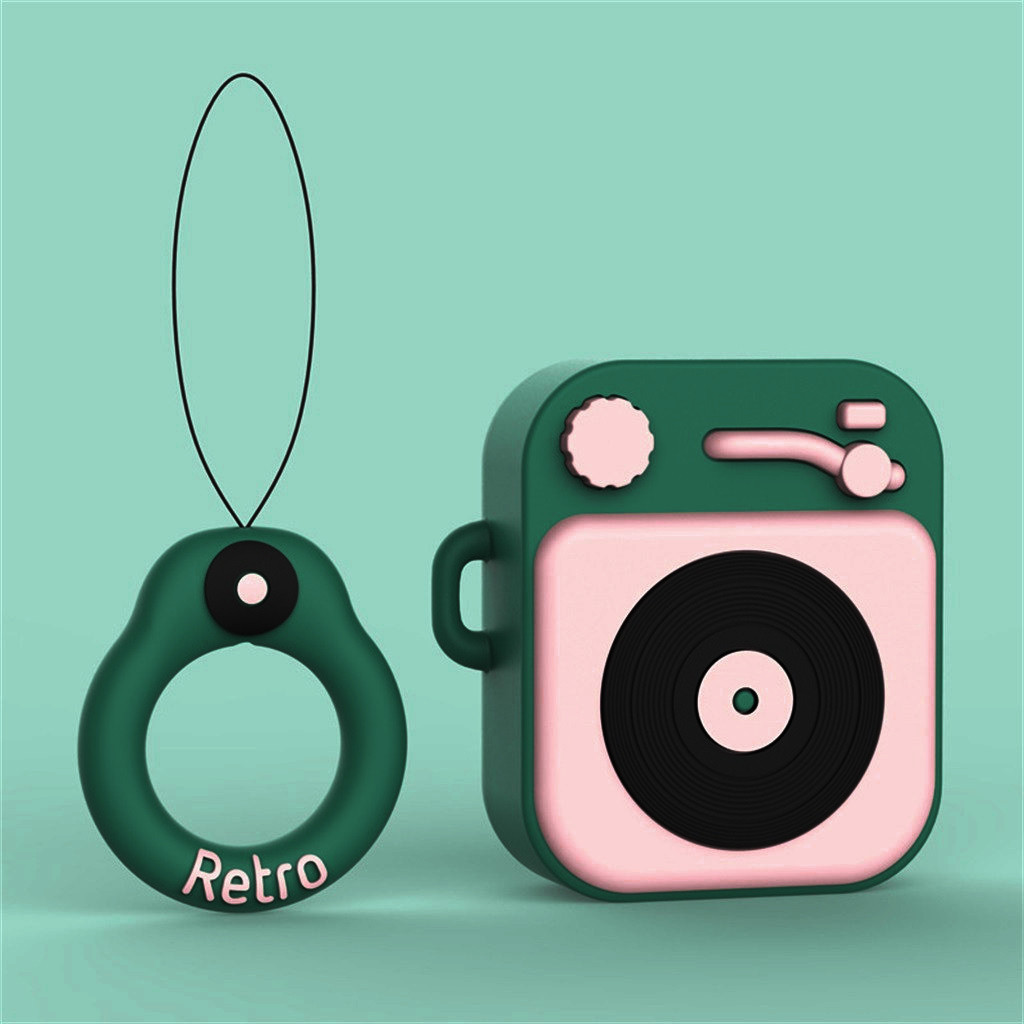 New Cute Silicone Earphone Case Anti-lost Protective Cover Skin Case for Apple AirPods Skin Accessories with Ear Hook