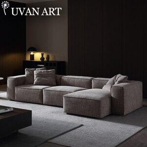 Sofa mały apartament salon nowoczesny minimalistyczny bawełny i lnu super miękki styl skandynawski pióro piasek release art