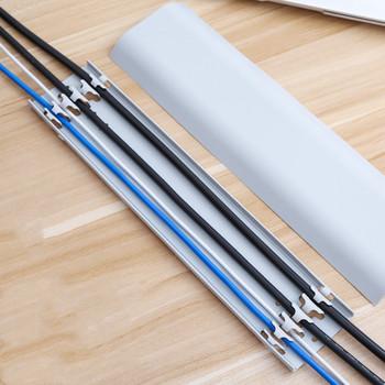 30cm kable TV przewody kablowe samoprzylepna osłona na kable ścienne opaski zapięcie do przymocowania uchwyt do przechowywania zacisk do przechowywania drutu ściennego tanie i dobre opinie CN (pochodzenie) PŁASKI Wire Cover cable organizer cable clip wall socket box wire holder Ties Fixer Fastener Holder Busbar