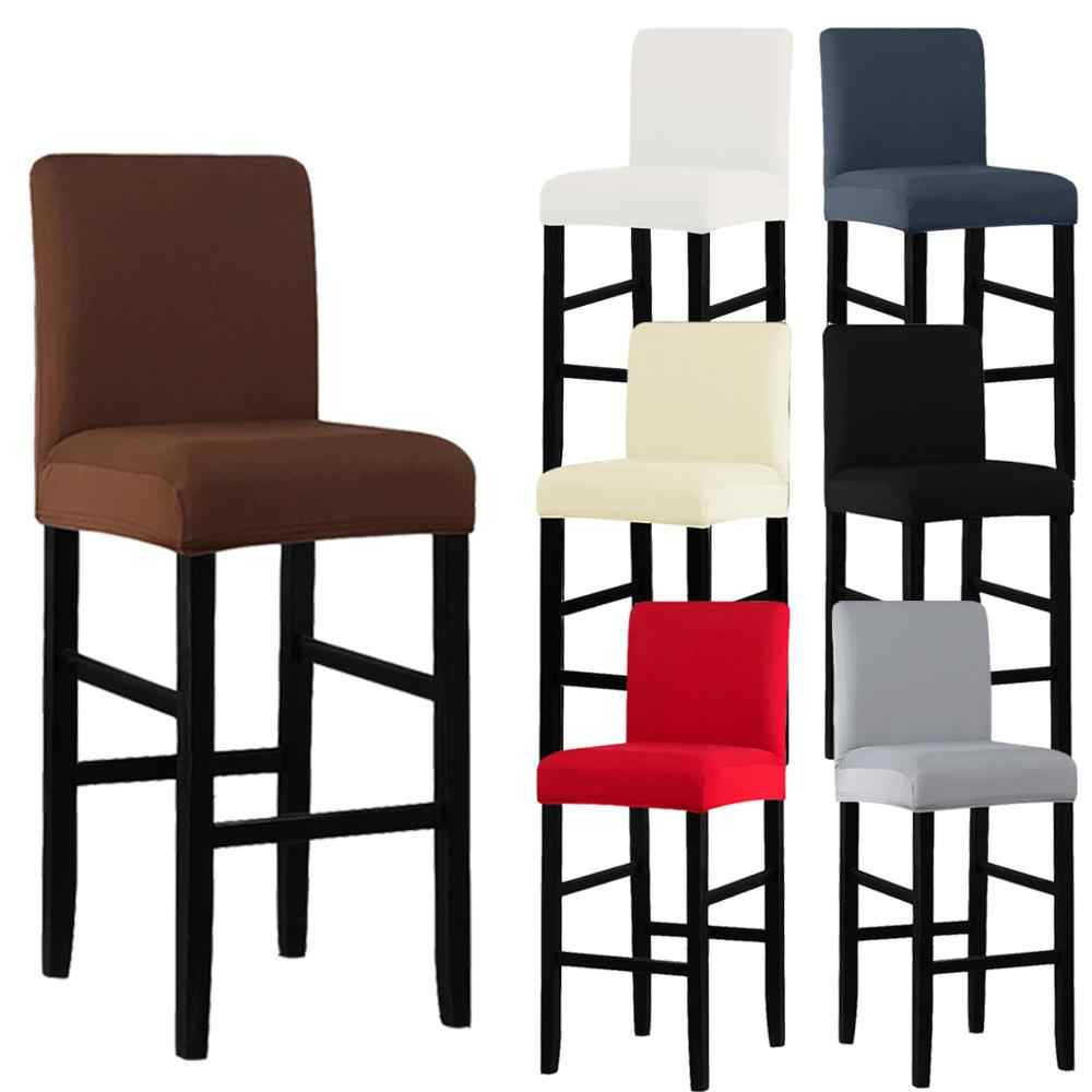 洗えるソフトスエード生地伸縮性バー椅子は結婚式宴会パーティーホテルダイニングチェアアームレス保護カバー