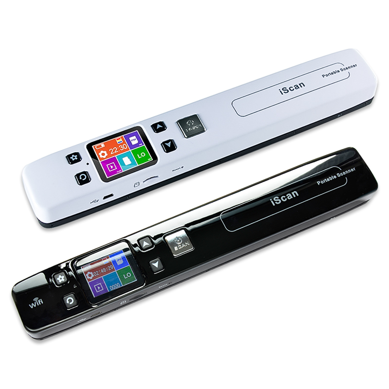 Portable Scanner Receipts-Books Lcd-Display PDF Wifi Handheld A4-Size Wireless Mini HD title=