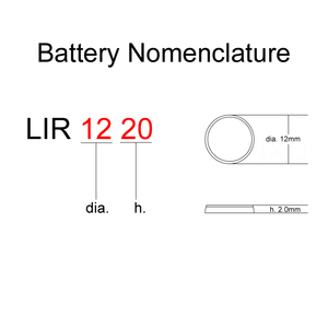 Image 3 - Li ion Rechargeable Battery LIR1220 3.6V Lithium Button Built in Coin Cell Batteries Watch Cells LIR 1220 Replaces CR1220
