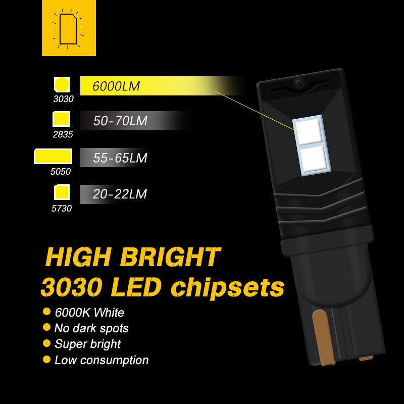 led T10 3030 4SMD