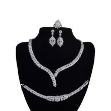 Jewelry Set HADIYANA Charm Necklace Earrings Ring Bracelet Gift Bridal Wedding Elegant For Women High Quality CNY0046 Bisuteria