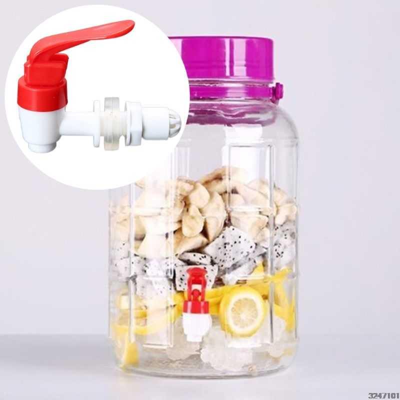 Botella de vino de 12mm grifo de plástico barril de vino jarra de agua tanque válvula dispensador de bebida