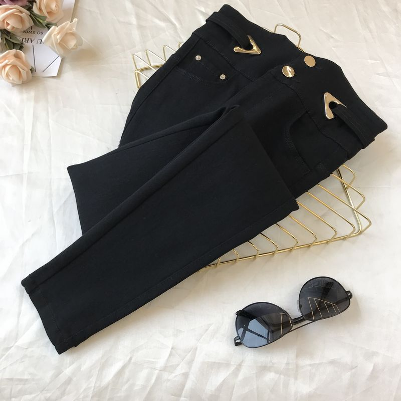2020 Spring New Casual Pants Women's Outer Wear New High Waist Black Tight-Fit Pants Female Student Stretch Pants Leggins Mujer