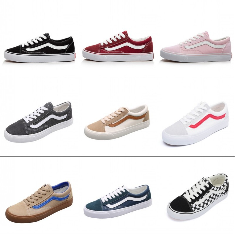 Low Top Old Skools CLASSICS MEN'S Checkerboard Vulcanized Canvas Shoes Sk8 Skateboarding Shoes Casual Sneakers