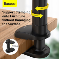 Baseus Lazy Phone Holder for Bed Desktop Clip Holder Long Arm Flexible Mobile Phone Stand Holder Table Clamp Bracket for Phone/iPhone/Xiaomi/Samsung/Huawei