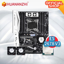 HUANANZHI X99 TF X99 Placa base con Intel XEON E5 2678 V3 con MOS Fan combo kit uso DDR3 DDR4 RECC memoria NVME USB 3,0(China)