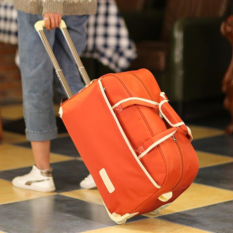 Travel bag female hand large capacity male trolley bag luggage bag folding waterproof waiting bag storage bag travel bag