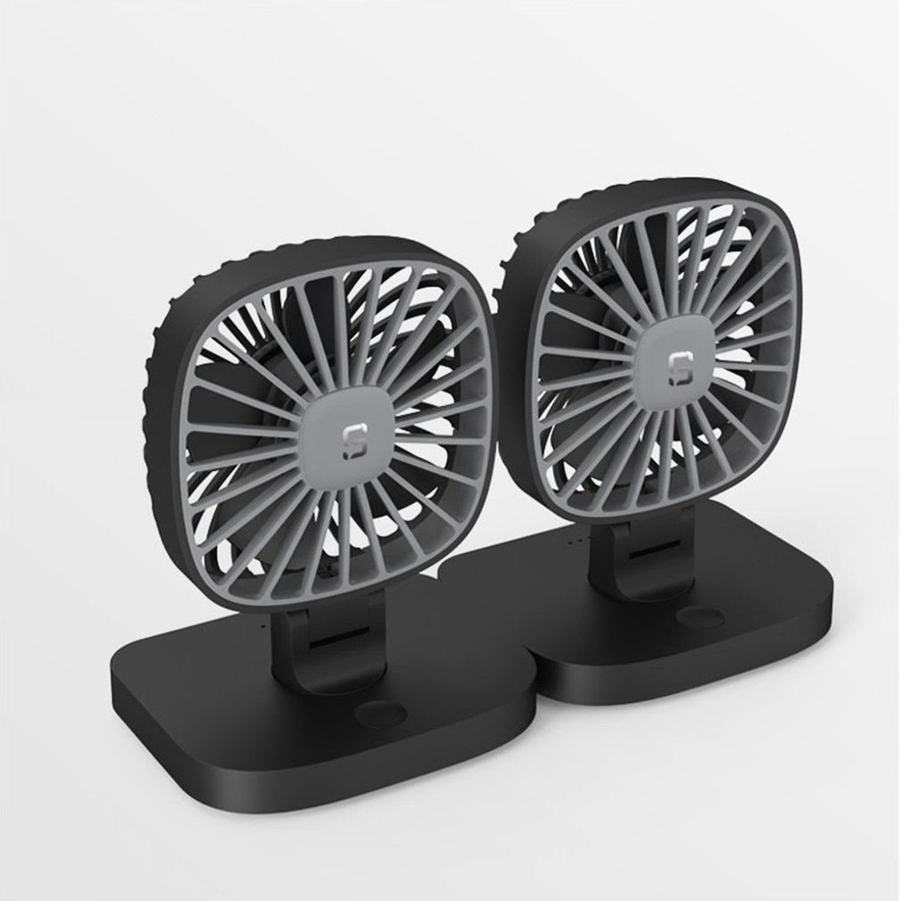 Double Head Fan Guide Cars Fan USB Small Cooler 12V Car 24v Large Truck Van Car