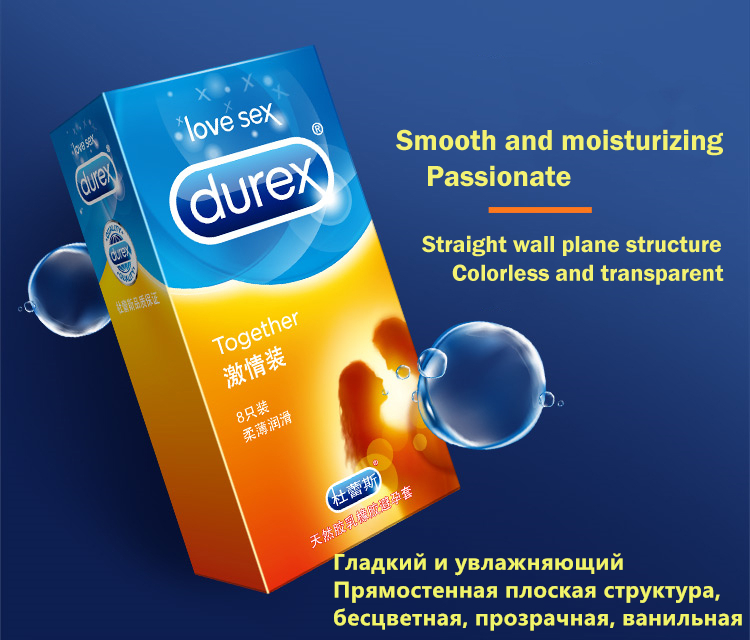 Durex Condom 100/64/32 Pcs Box Natural Latex Smooth Lubricated Contraception 4 Types Condoms for Men Sex Toys Products Wholesale 4