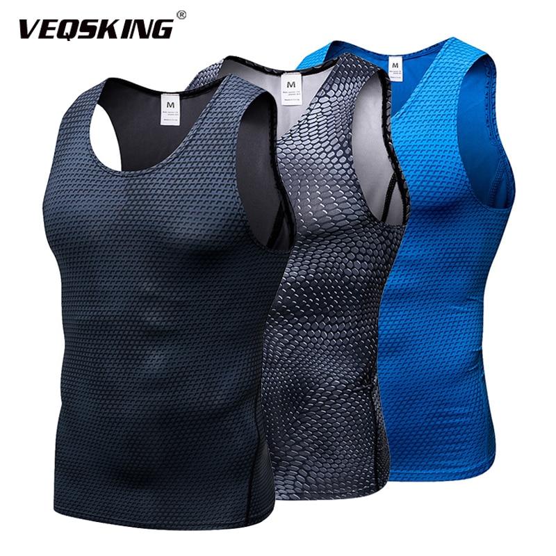 3D Men s Quick Dry Elastic Tight Workout Vest Breathable Fitness Running Pro Training Vest Bodybuilding Outdoor Jogging Tank Top