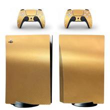 Cover per adesivo Skin PS5 Standard Disc Edition in fibra di carbonio per PlayStation 5 Console e Controller adesivo Skin PS5