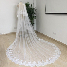 White/Ivory 2T Cathedral  Sequined Lace Wedding Veil with Comb New Bridal Veil Wedding Accessories