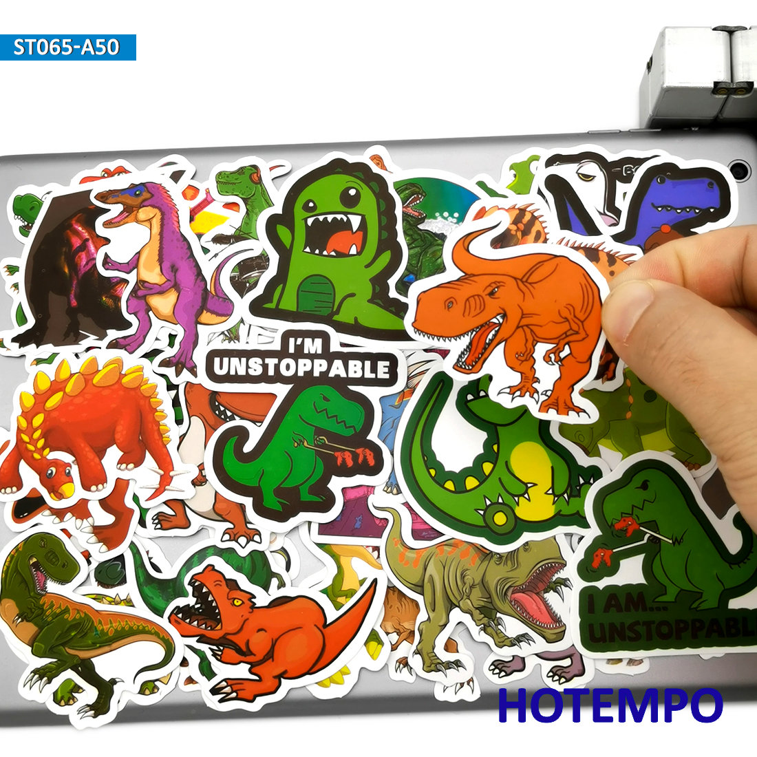 50pcs Cute Dino Anime Dinosaurs Stickers Toy For Children Kids Gift Scrapbooking Stationery Mobile Phone Laptop Cartoon Stickers