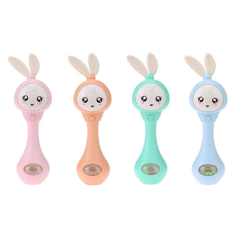 0-12M Baby Cute Hand Bells Rattle Ring Bell Early Educational Gifts Toys