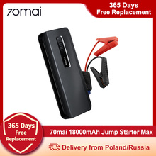 70mai Car Jump Starter Max 18000mah 1000A Max Power Bank 12V Car Battery Booster 8.0L