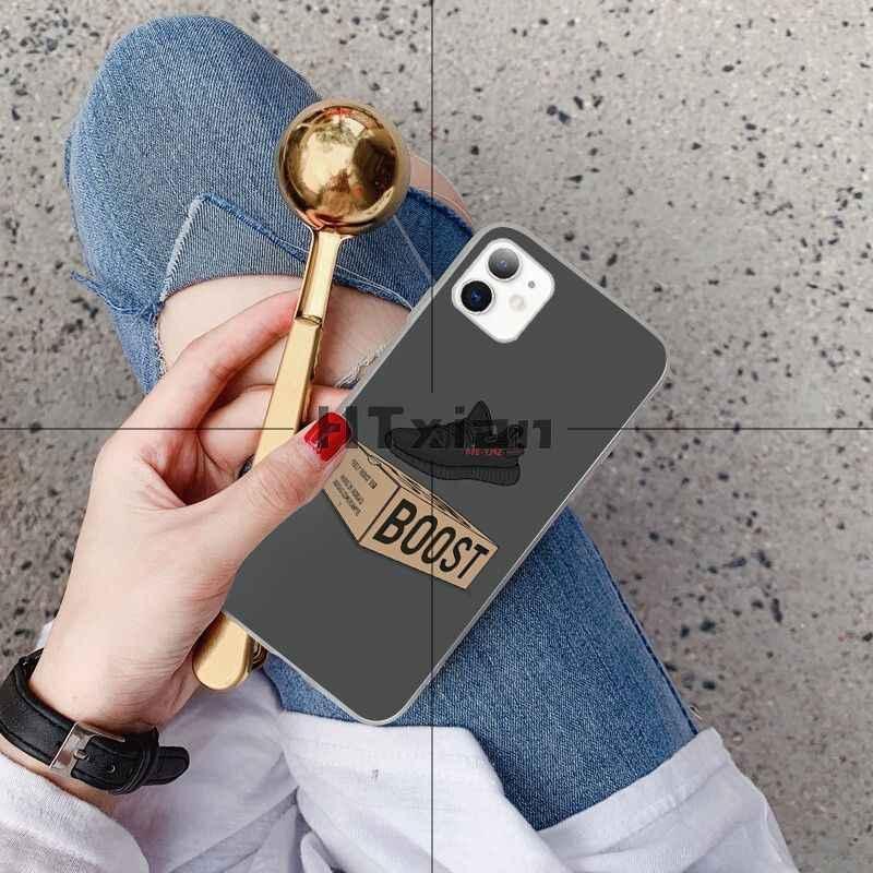 HTXian zapatillas de deporte Kanye Omari oeste BOOST 350 V2 cubierta de la caja del teléfono Shell para iPhone 11 pro XS MAX 8 7 6 6S Plus X 5 5S SE XR cubierta