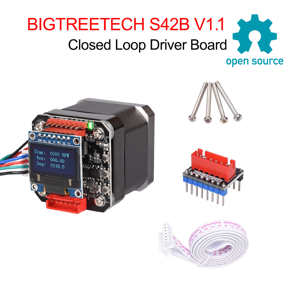 BIGTREETECH S42B V1 1 Closed Loop Driver Control Board 42 Stepper Motor OLED 3D Printer Parts For Ender 3 SKR V1 3 1 4 VS S42A