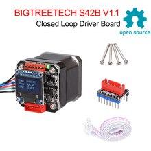 Bigtreetech S42B V1.1閉ループドライバ制御ボード42ステッピングモータoled 3D用プリンター部品エンダー3クローナV1.3/1.4 vs S42A
