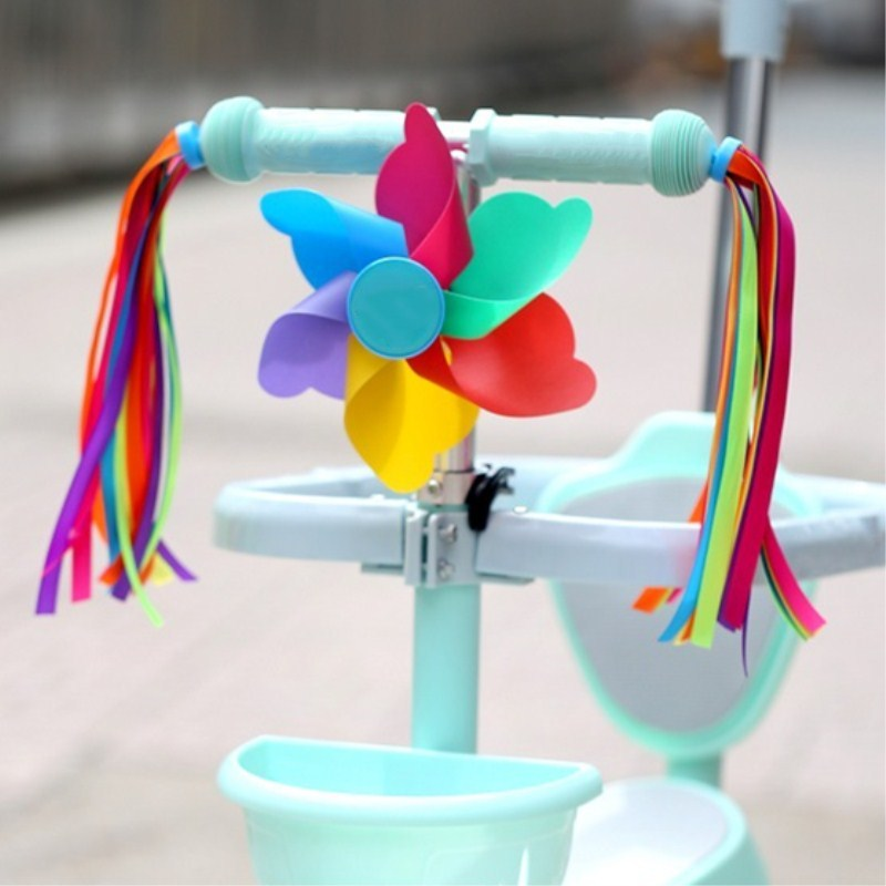 2pcs Bike Bicycle Cycling Tricycle Kids Girls Boys Handlebar Scooter Streamers Tassels Children Cycling accesorios(China)