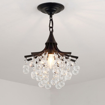 Merican Small Crystal Chandelier Lighting For Bedroom Study Room Ceiling Chandeliers Gold Black Lustre Cristal Light Fixtures new design large crystal chandeliers lighting fixtures lustre de cristal led light chandelier living room lamps