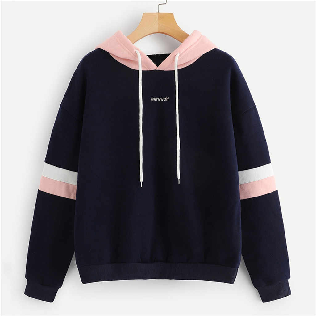 Womail Vrouwen Winter Sweatshirt Fashion Pullover Tops Brief Print Jumper Hoodie Lange Mouw Toevallige Sweater