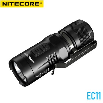 NITECORE EC11 CREE LED EDC Flashlight IMR 18350 CR123 Battery 900LM White Red LEDs Mini Torch Waterproof Rescue Camping Light