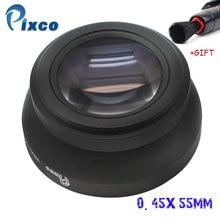 Pixco 55MM0.45X thread lens Super Macro Wide Angle Lens For canon nikon sony PENTAX olympus DSLR DV SLR Camera