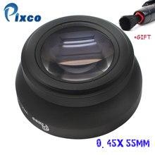 Pixco 55mm 0.45x 스레드 렌즈 슈퍼 매크로 와이드 앵글 렌즈 캐논 니콘 소니 펜탁스 올림푸스 dslr dv slr 카메라
