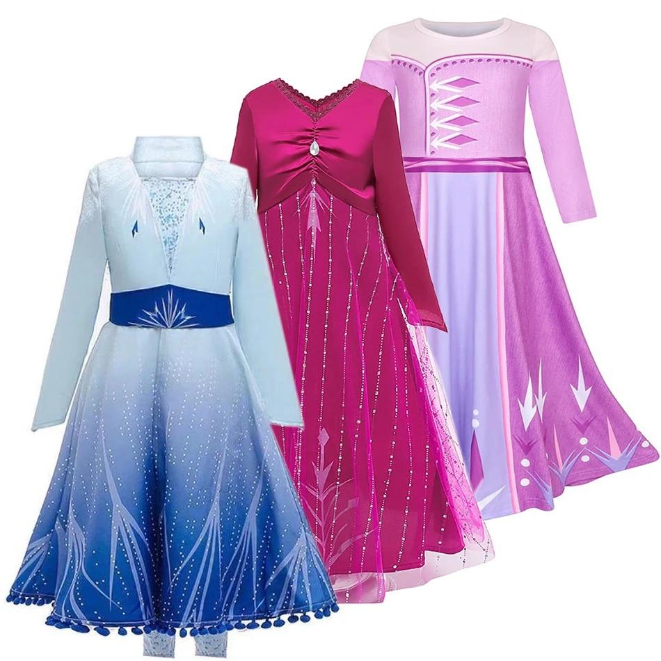 Frozen 2 Anna Costume Olaf/'s Adventure Cosplay Anna Snow Queen Dress
