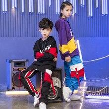 2019 Kinderen Jazz Dance Kleding Losse jas jogger Broek Jongens Meisjes Street Dance Hip Hop Dance Kostuums Kids Casual Sport set