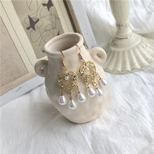 2020 new fashion gold baroque hollow out  heart simulated pearl