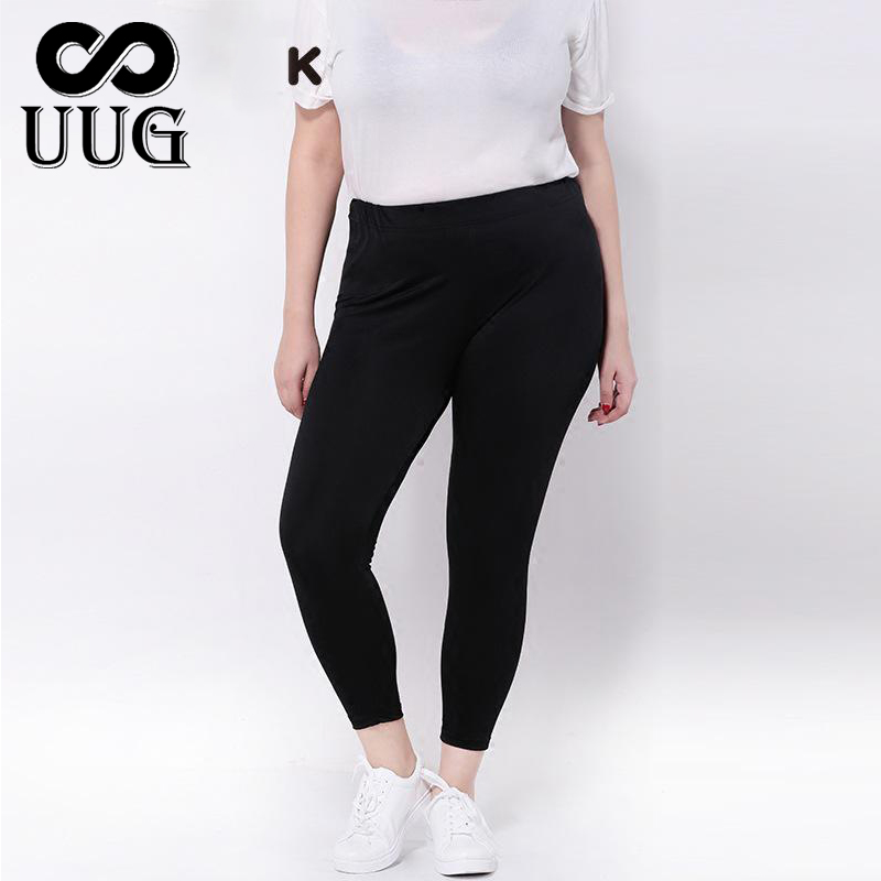 UUG Women Leggings Plus Size Big Sizes Women Clothing Large Slim Legging Pants 3xl Women Leggins Black Capris 9th 4XL Gloss