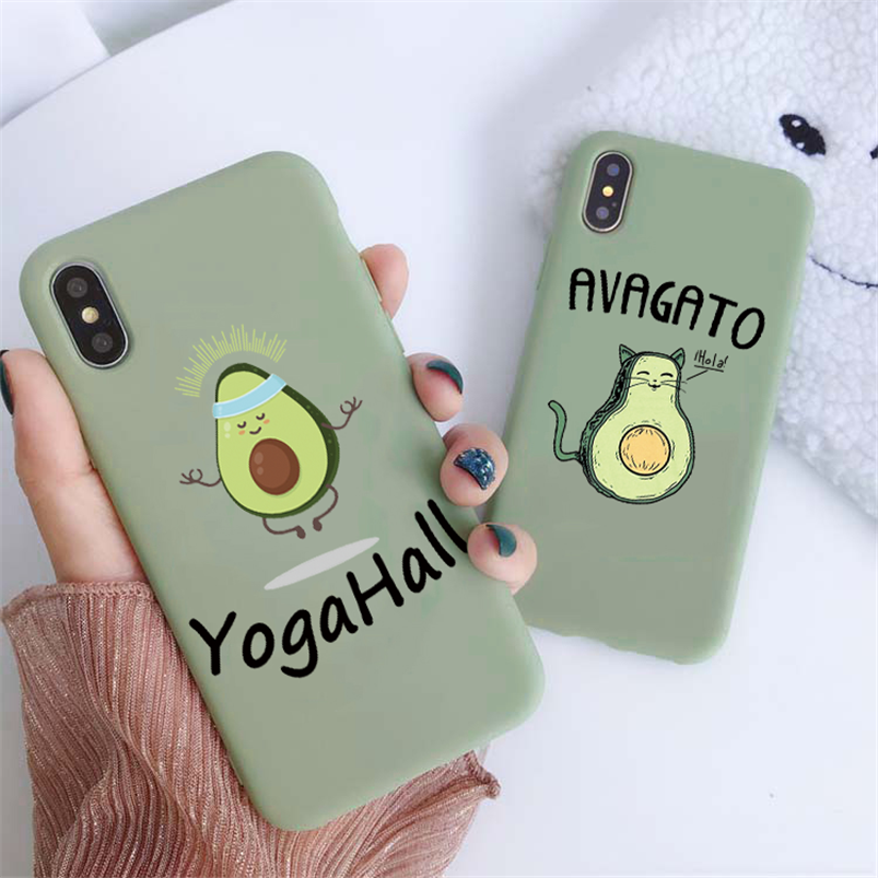 Cartoon Soft TPU Case For <font><b>Samsung</b></font> Galaxy J3 J5 J7 Prime A5 <font><b>2016</b></font> 2017 J4 J6 J8 A6 Plus A8 <font><b>A9</b></font> A7 2018 Note 8 9 10 5 Avocado Cover image