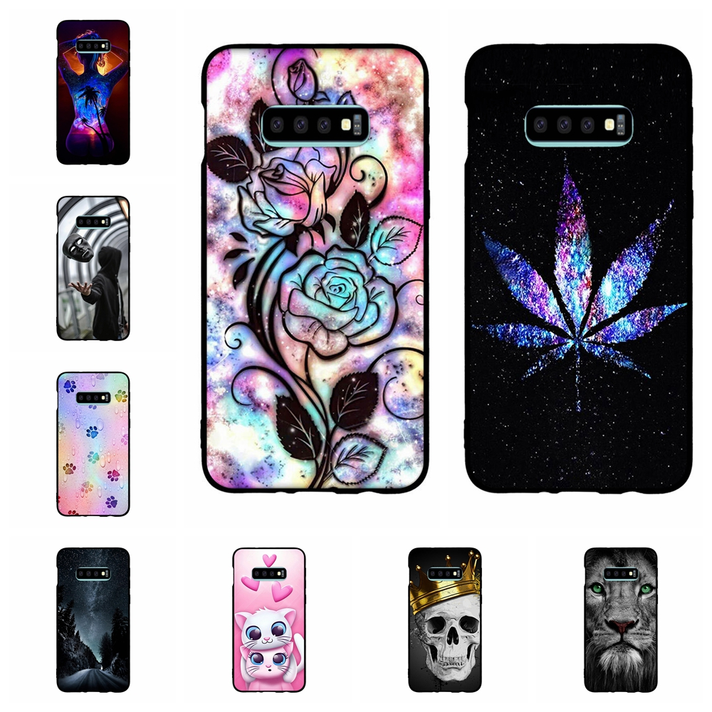 For Samsung Galaxy S10e Case Soft TPU Silicone G970F Cover Cartoon Pattern Shell